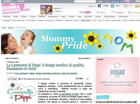 Cameretta di Pippi su Mommy Pride